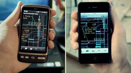 autocad 360 smartphone